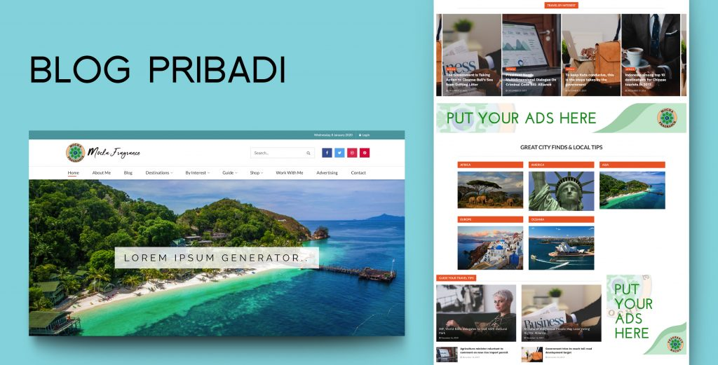 12. Demo Website - Blog Pribadi