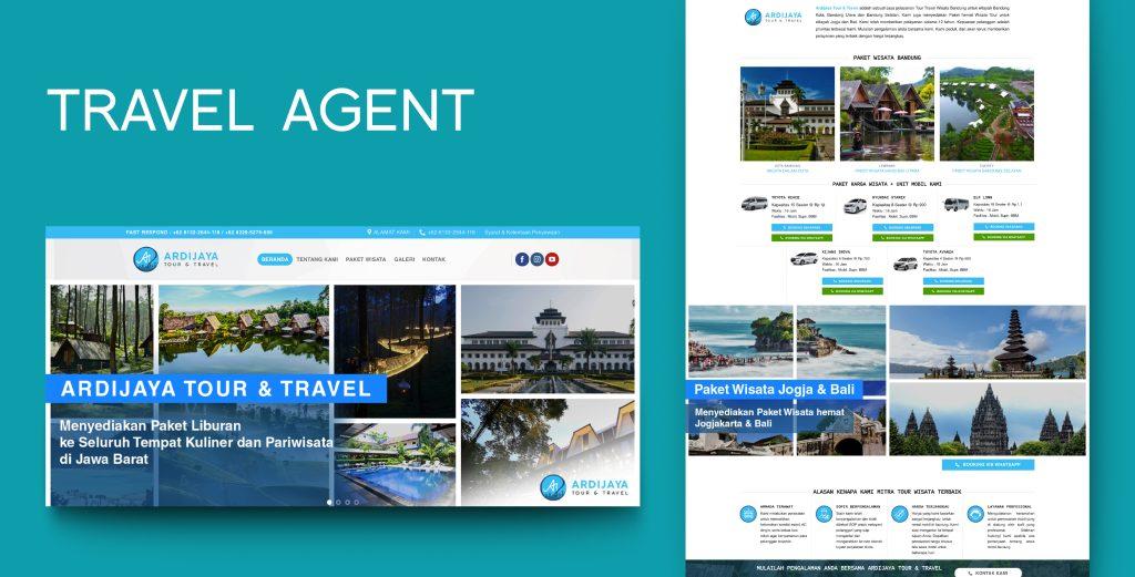 2. Demo Website - Travel Agent