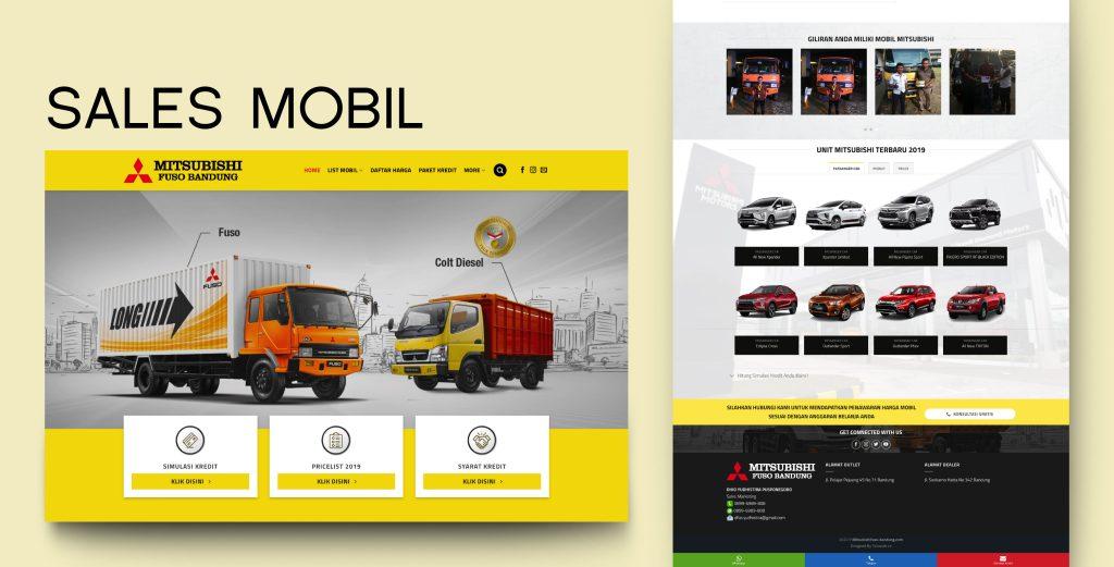 4. Demo Website - Sales Mobil